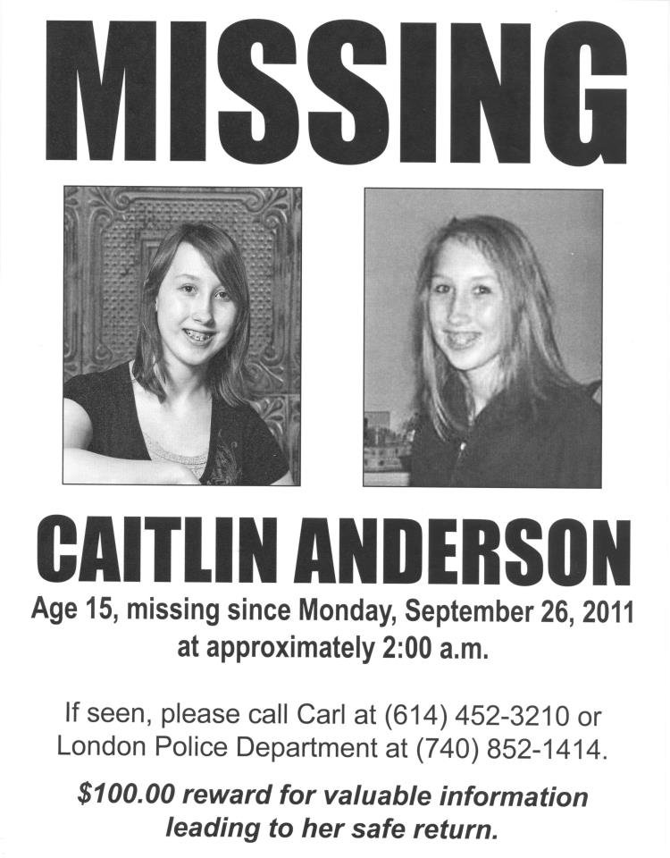 Missing Child Catlin Anderson